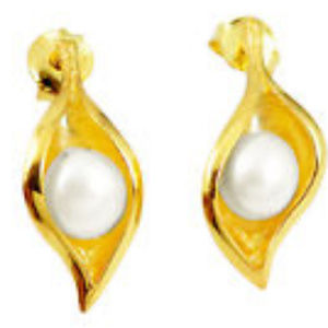 natural white pearl 14k